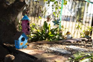 Close up of fairy garden at Dalby Beck Street Kindergarten