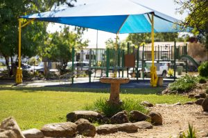 Kindy yard Dalby Beck Street Kindergarten