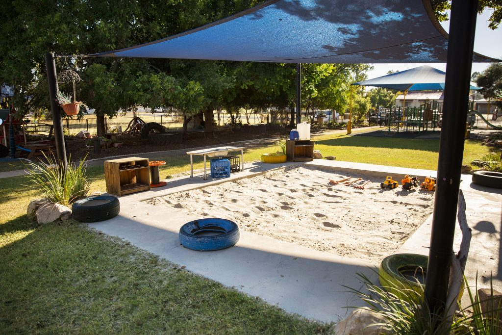 Sandpit and playground of Dalby Beck Street Kindergarten