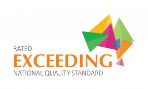 Dalby Beck Street Kindergarten rated exceeding national quality standards logo