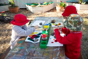 Painting at Dalby Beck Street Kindergarten